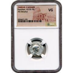 Twelve Caesars Domitian AR Denarius AD 81-96 - NGC VG