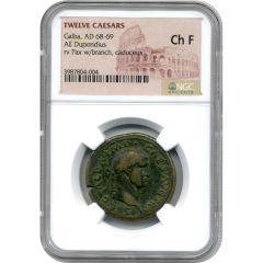 Twelve Caesars Galba AE Dupondius AD 68-69 - NGC Ch F