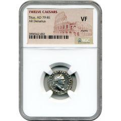 Twelve Caesars Titus AR Denarius AD 79-81 - NGC VF