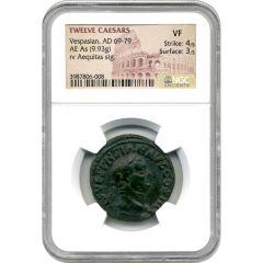 Twelve Caesars Vespasian AE As AD 69-79 - NGC VF