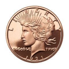 Peace Dollar 1 oz Copper Round - Osborne Mint