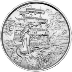 2 oz Silver Siren Privateer Ultra High Relief Silver Round