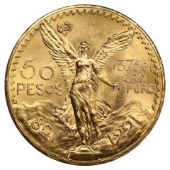 Mexican 50 Pesos Gold Coin - Dates Our Choice