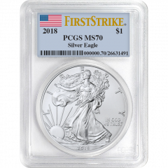 2018 PCGS MS-70 First Strike American Silver Eagle