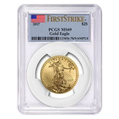 2017 1/2 oz PCGS MS-69 First Strike Gold American Eagle