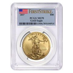 2017 1 oz PCGS MS-70 First Strike Gold American Eagle