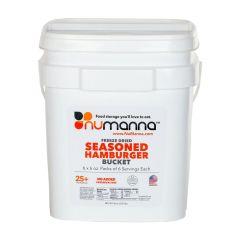 NuManna Food Storage Freeze Dried Seasoned Beef Bucket - 36 Serving