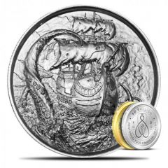 2 oz Privateer The Kraken Ultra High Relief Silver Round