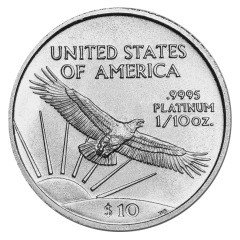 1/10 oz Platinum American Eagle Coin - Dates Our Choice