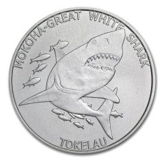2015 Tokelau 1 oz Silver Mokoha Great White Shark