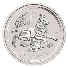 2018 Australian Lunar Year of the Dog Silver Coin 1/2 oz
