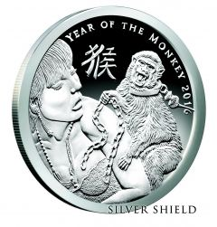 2016 Silver Shield Year of the Monkey - 1 oz Silver Proof