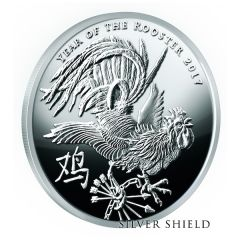 2017 Silver Shield Year Of The Rooster V1 MicroMintage Proof 1 oz