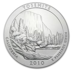 2010 5 oz Silver ATB - Yosemite National Park America The Beautiful