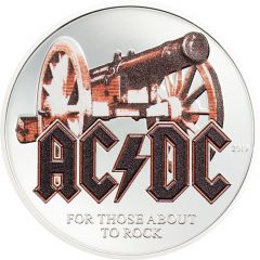 2019 1/2 oz AC/DC For Those About To Rock Silver Coin
