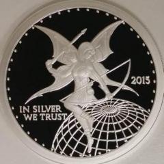 Silverbug Archer Ariana 1 oz Silver Proof - In Silver We Trust