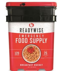 READYWISE Freeze Dried Breakfast Bucket - 120 Servings