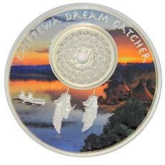 2018 Chippewa Dreamcatcher Proof Silver Coin 1 oz