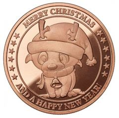 Rudolph Cartoon 1 oz Copper Round - Osborne Mint