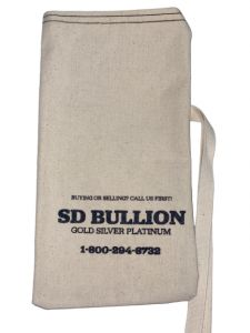Empty SD Bullion 90% Silver Canvas Bag - $100 Face