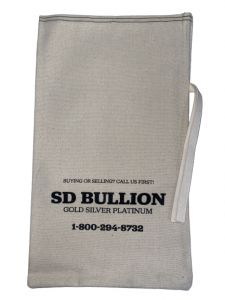 Empty SD Bullion 90% Silver Canvas Bag - $500 Face