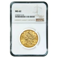 $10 NGC MS-62 Liberty Gold Eagle Coin - Random Year
