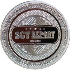 1 oz SGT Report Silver Round