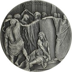 2018 2 oz Jesus Scourged Biblical Silver Coin Series