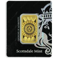 1 oz Scottsdale Mint Marquee Gold Bar - in Certi-Lock