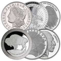 1 oz Silver Rounds (New) - Design Our Choice