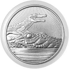 2019 Perth Mint Crocodile Silver Coin 2 oz - Next Generation Series
