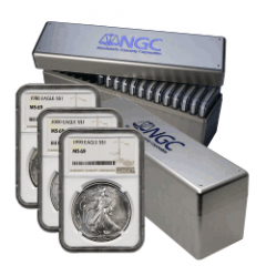 1986-2021 NGC MS-69 US Silver Eagle 36 Coin Set