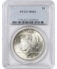Pre-1935 PCGS MS-63 Peace Silver Dollar - Random Year