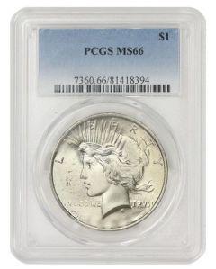 Pre-1935 PCGS MS-66 Peace Silver Dollar - Random Year