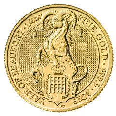 2019 1/4 oz Queen's Beasts The Yale of Beaufort Gold Coin