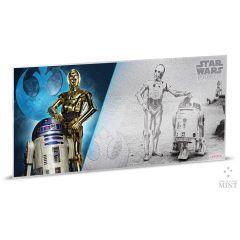 Star Wars A New Hope 5g Silver Foil - C3PO & R2-D2