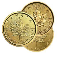 1/20 oz Canadian Gold Maple Leaf Coin - Random Year