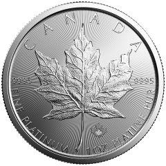 1 oz Canadian Platinum Maple Leaf Coin - Random Year