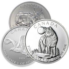 1 oz Royal Canadian Mint Silver Coins - Random Design