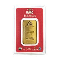1 oz Republic Metals Gold Bar .9999 Fine in Assay Card
