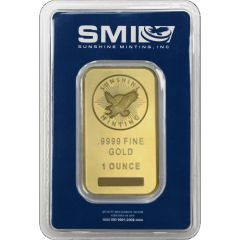 1 oz Sunshine Mint Gold Bar In Certicard