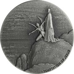 2018 2 oz Temptation of Jesus Biblical Silver Coin Series