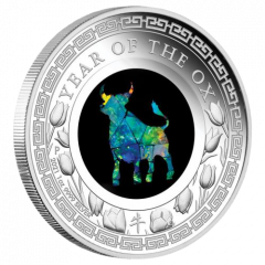 2021 1 oz Lunar Series Year of the Ox Opal Proof Silver Coin