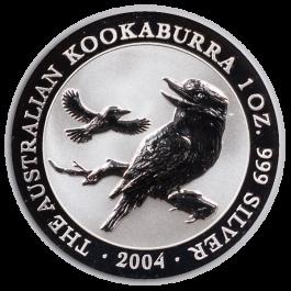 2004 1 Oz Australian Kookaburra Silver Coin