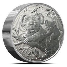 2018 10 Oz Australian Perth Mint Piedfort Koala Silver