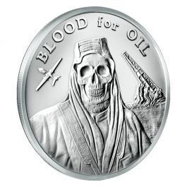 2017 Silver Shield Blood For Oil Minimintage 1 Oz Silver Round
