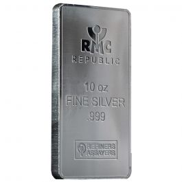 10 Oz Republic Metals Silver Bar Minted