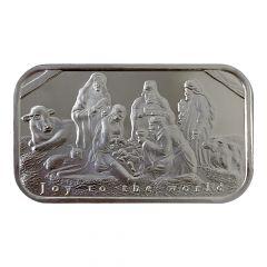 1 oz Nativity Scene Silver Bar