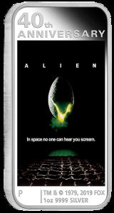 2019 1 oz Alien Poster Silver Coin - 40th Anniversary