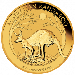 2019 Australian Kangaroo Gold Coin 1/4 oz